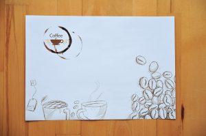 podkladki papierowe ekologicznym z recyklingu do kawiarni na stol lub tacki