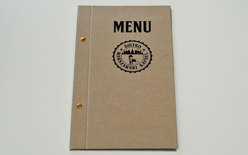 druk kart meny dla restauracji