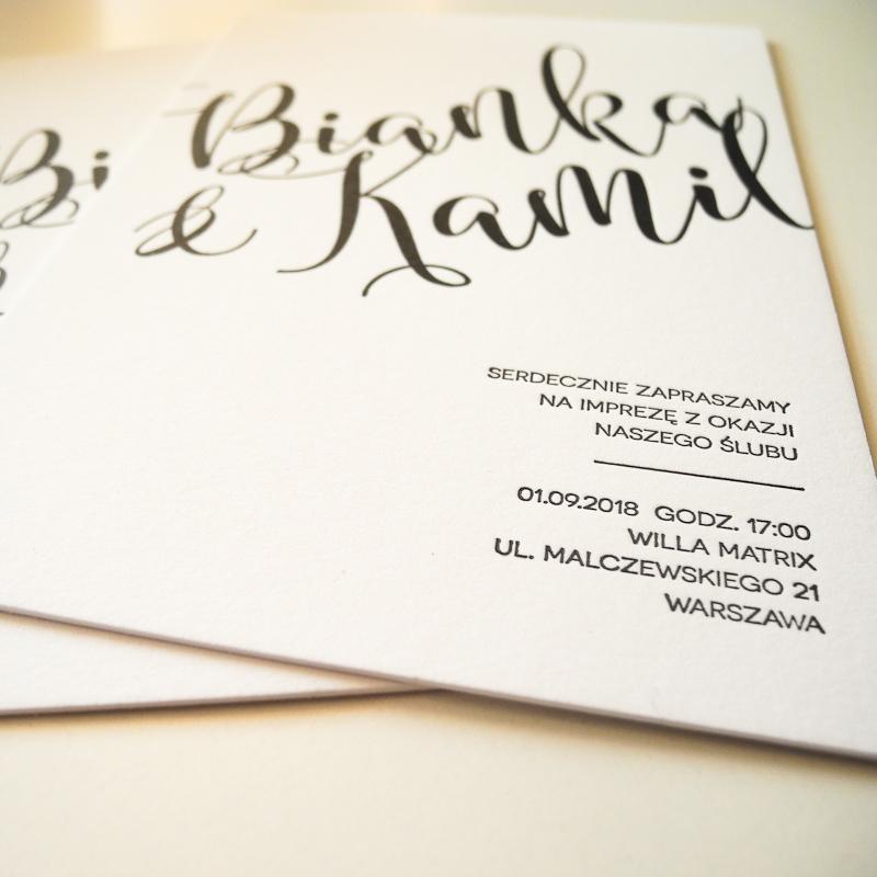 zaproszenia letterpress